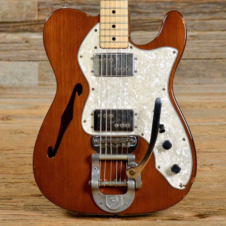 Fender Telecaster Thinline Mocha w/Bigsby 1972 (s720)