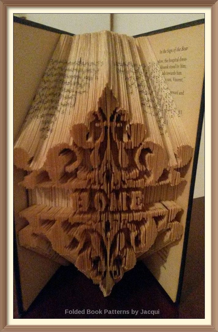 Home. Book Folding Pattern. by JHBookFoldPatterns on Etsy