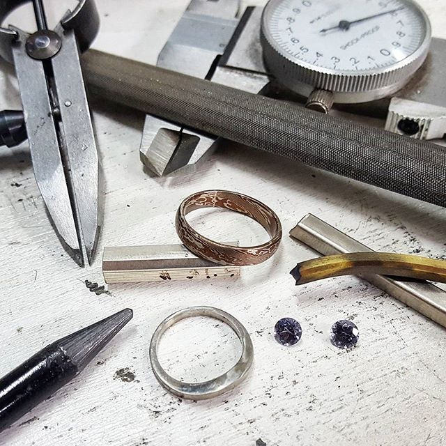 It's  time to jump back into it! Looking forward to what we'll be working on through 2017! Thanks for your support always!    They're some stunning grey spinel in the corner  if you were wondering!    #spinel #grey #custom #custom #handmade #gold #silver #rings #weddingring #wedding #engagementring #mirai #platinum #sydney #crowsnest #toinfinityandbeyond