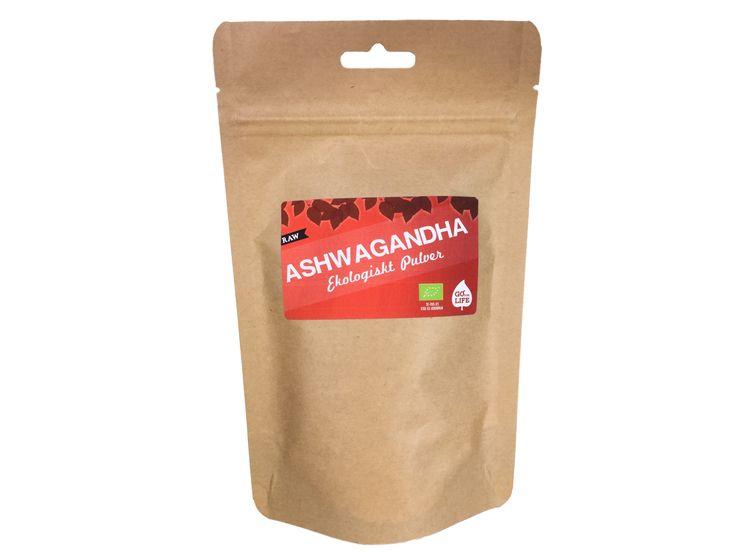 """Ashwagandha (Eko & Raw) Ashwagandha har kallats """"2000-talets hälsotonic"""" eftersom det sägs göra underverk för en stressad livsstil. Det är även känt som """"indisk ginseng"""" för sin beryktade förmåga att göra dig stark som en hingst. http://goforlife.se/"""