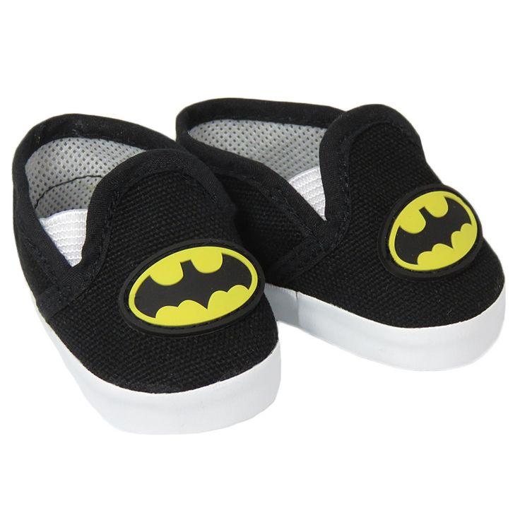 American Girl or Boy doll shoes - Silly Monkey - Black Batman Shoes, $7.00 (http://www.silly-monkey.com/products/black-batman-shoes.html)
