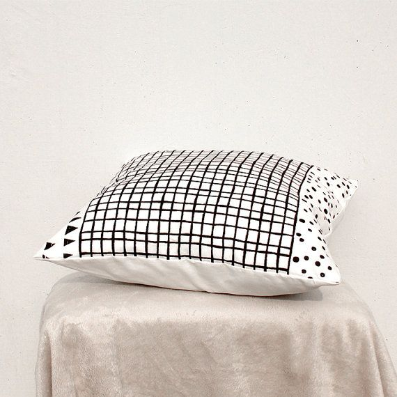 Decorative Pillow, Geometric Pillow, Kids Pillows, Black and White Pillow C3