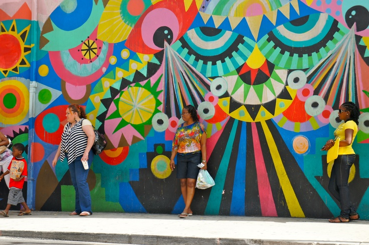 Street art in Downtown Nassau. They are all over the place, you just have to look.