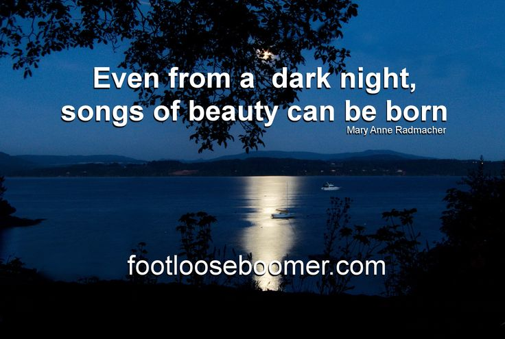 Nightfall as seen from the  high bank waterfront in North Saanich, Vancouver Island, BC