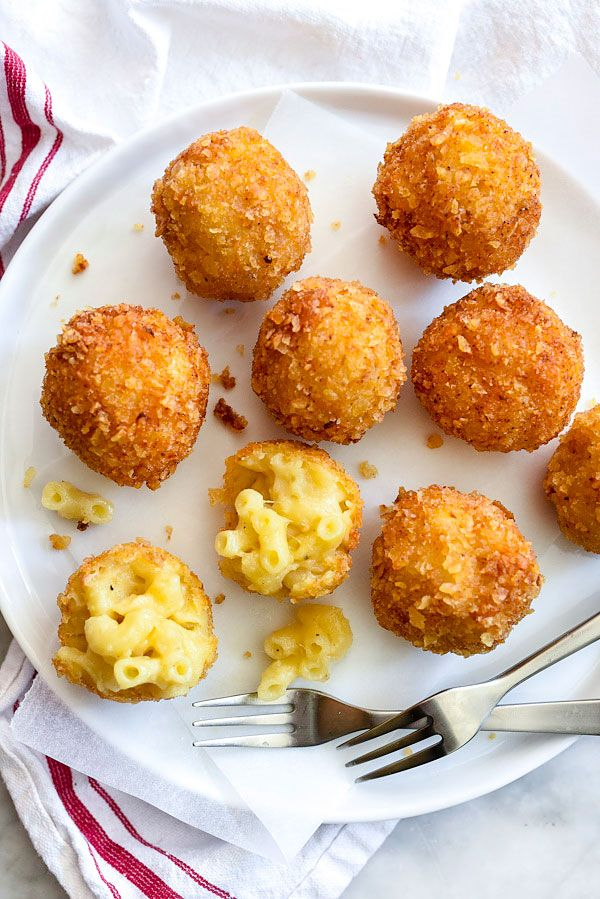 A crunchy potato chip crust turns macaroni and cheese into a hand held appetizer version of everyone's favorite cheesy comfort food.