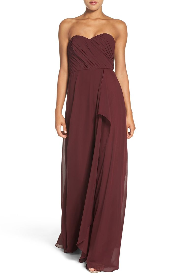 308 best images about burgundy wedding ideas on pinterest for Wine colored wedding dresses