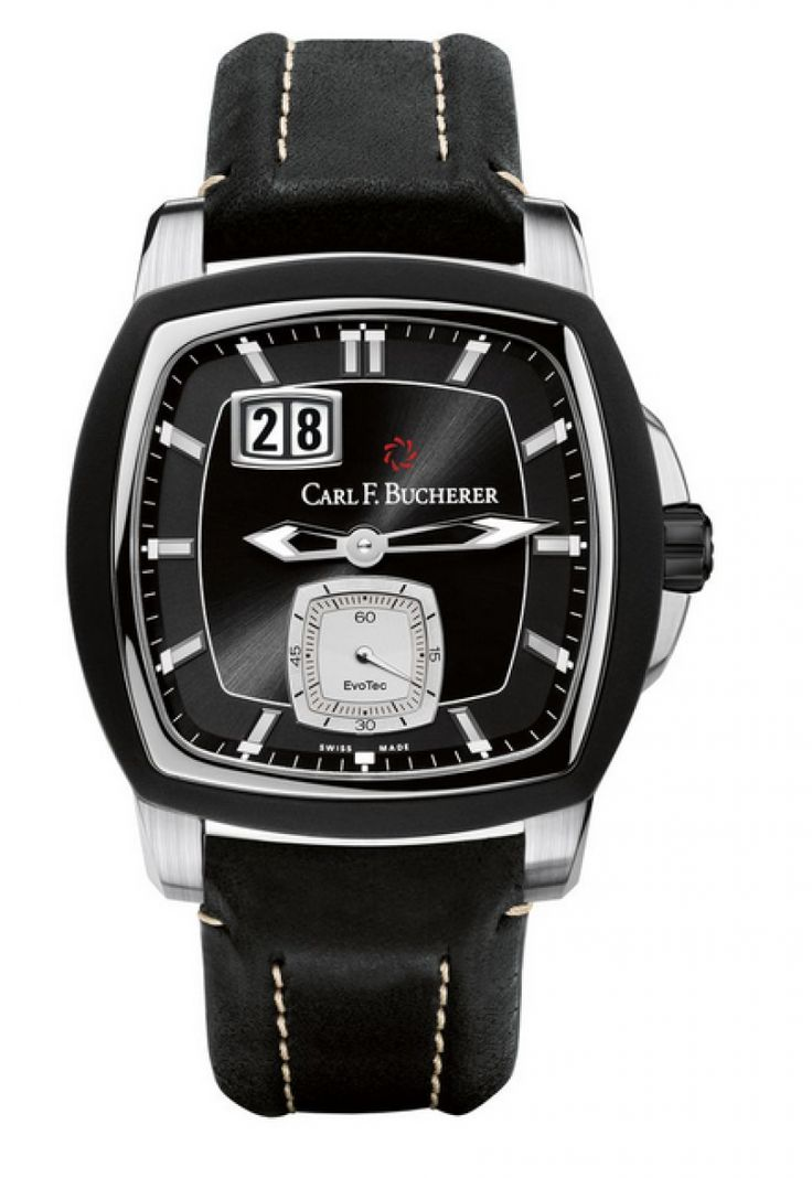 Carl F. Bucherer 00.10628.13.33.01 Patravi EvoTec BigDate - швейцарские мужские часы наручные, черные, белые