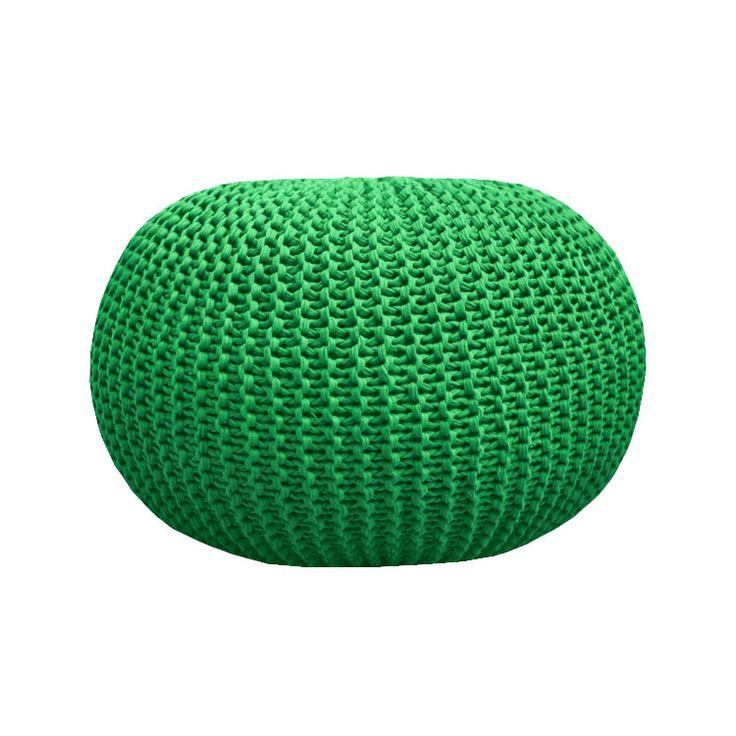 """Вязаный Пуф цвет """"Зеленый"""" Knitted pouf Green"""