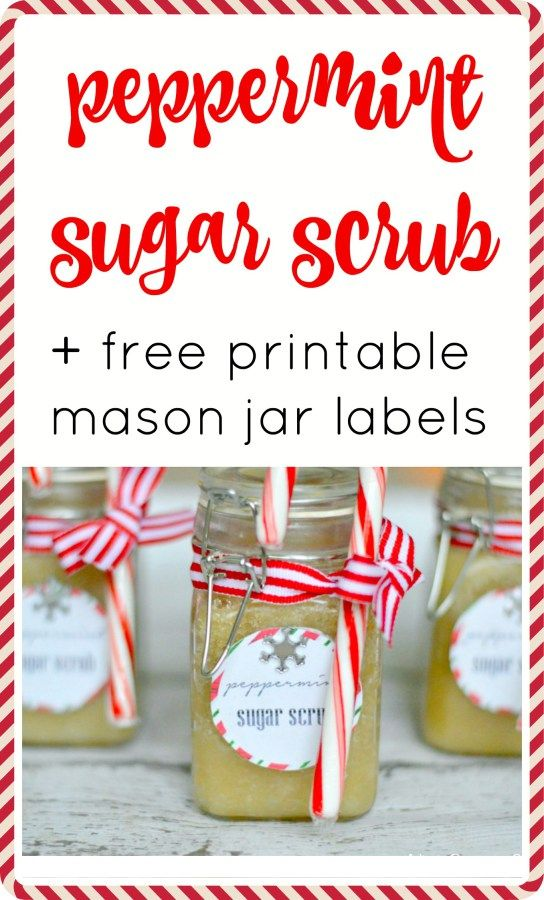 This peppermint sugar scrub + free printable labels is a fun and easy gift for…