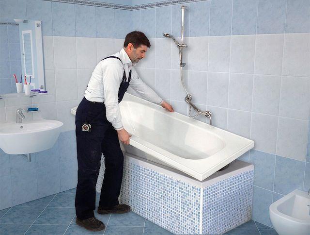 Sovrapposizione vasca da bagno