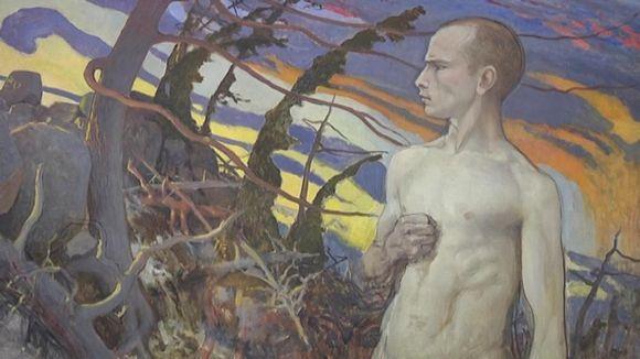 Eero Järnefeltin teos Idän myrsky. (1890-luku)