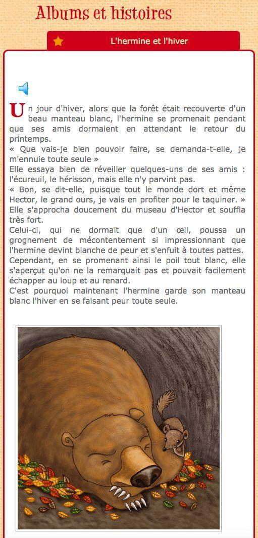 Hermine et l'hiver, histoire audio en Français #PDF #MP3 #5auquotidien