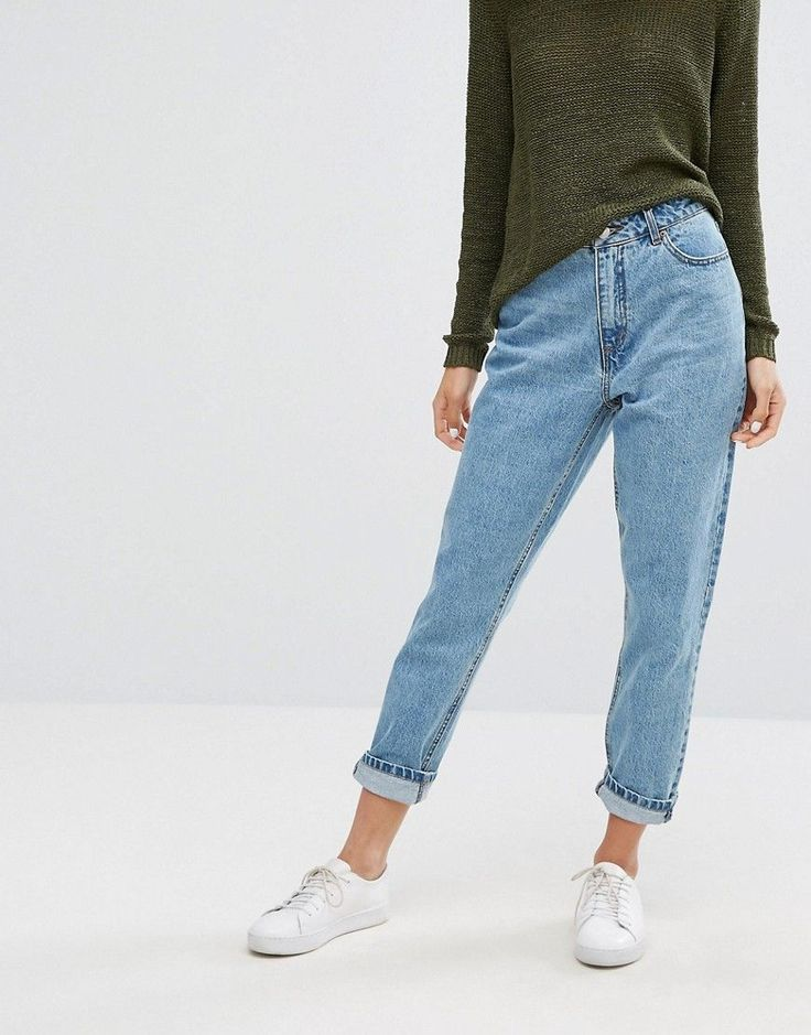 Get this Only's high waist jeans now! Click for more details. Worldwide shipping. Only Vintage Wash Mom Jean - Blue: Mom jeans by Only, Non-stretch denim, High-rise waist, Concealed fly, Functional pockets, Slim tapered leg, Relaxed fit, Machine wash, 100% Cotton, Our model wears a UK 8/W26 and is 174cm/5'8.5 tall. Danish high street brand Only brings forth a casual, feminine collection of classic denim, bold print tees and vests in true Scandinavian style. Expect skinny jeans and jeggings…