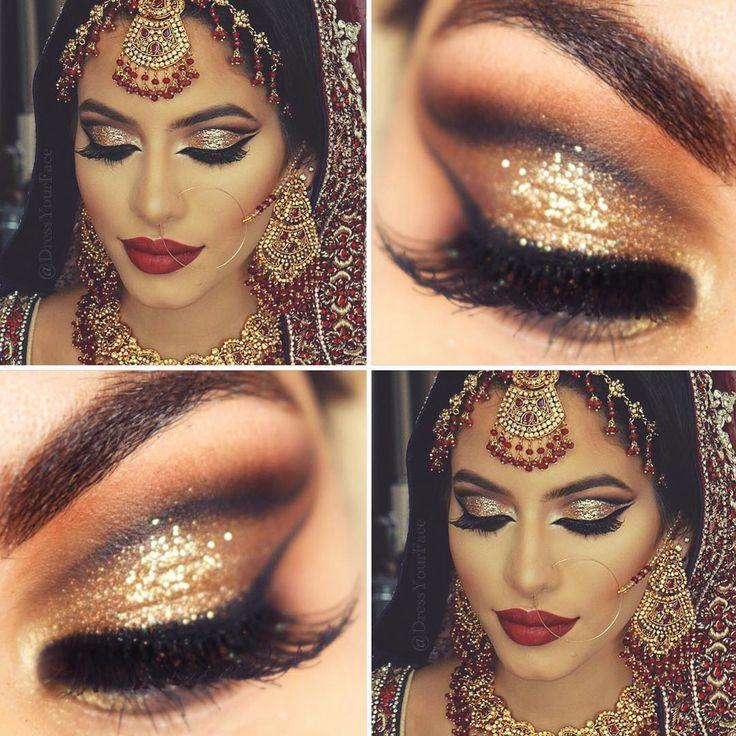 Pra quem curte uma inspiração indiana! A make completa é da @dressyourface e a close é minha! Tem no www.youtube.com/pausparafeminices como maquiagem de Natal (olha só como eu encontro o papai noel básica  #sqn)