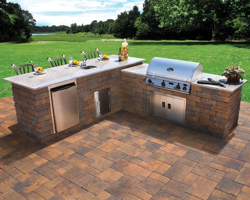 Nice For My Back Yard I Want This Grill/bar Platform And Of Course The Acre
