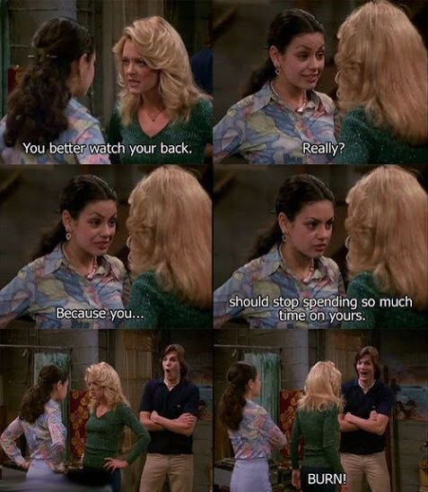 Jackie and Kelso. Jackie Burkhart and Michael Kelso