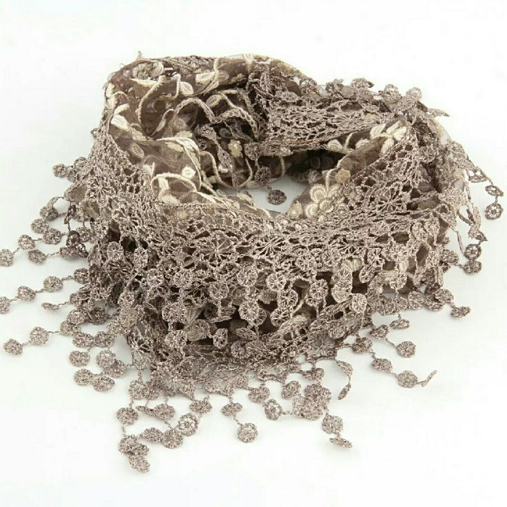 Hey, check out what I'm selling with Sello: Sheer floral print lace triangle scarf in coffee http://sesenne.sello.com/shares/A0Va0