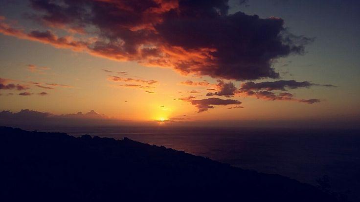 La vue a la Montagne  du couché soleil