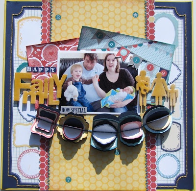 Scrap4fun Scrapbookatelier: Happy Family ~Bo Bunny Family is...~ by Dana