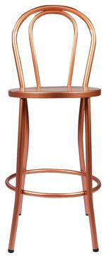 Copper French Bistro Counter Stool With Back contemporary-bar-stools-and-counter-stools