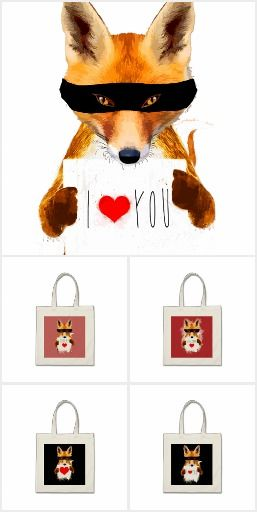 Fox Steal My/Your Heart! design collection by Andras Balogh