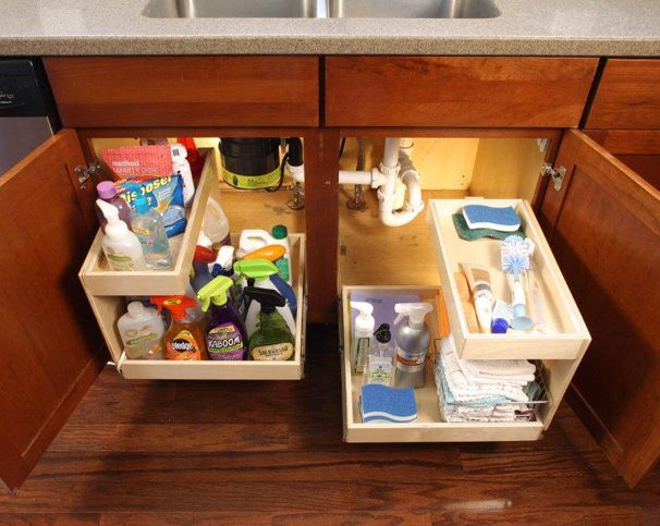 Clean Up Clutter With Sliding Shelves From ShelfGenie Of Greenville   Glide  Out Shelves | Pull · Under Cabinet StorageKitchen Pull Out DrawersUnder Sink  ...
