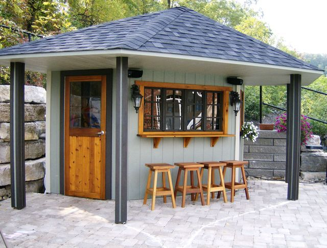 back yard bar with roof | Backyard Cabana