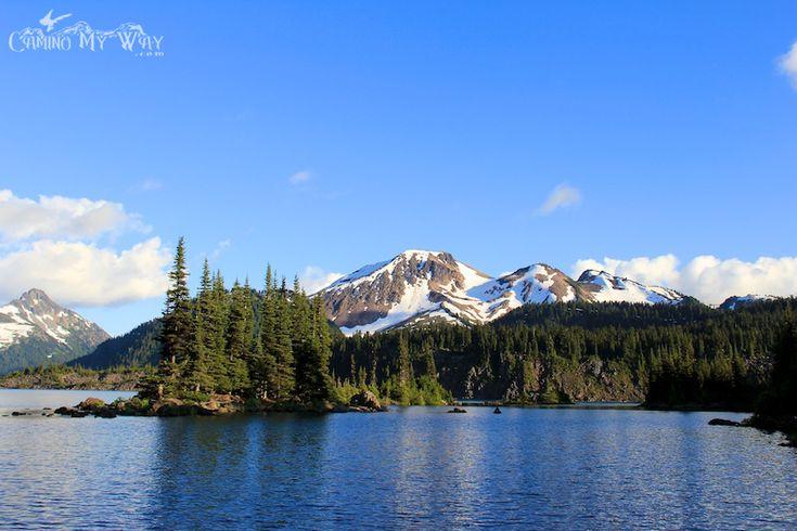 Mount Price and the Battleship Islands, Garibaldi Lake on a summer evening.