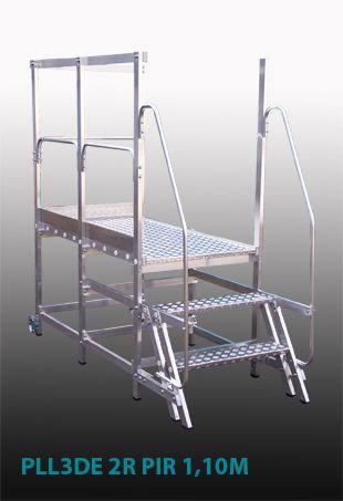 Escada Alumínio - Plataforma Industrial desenvolvida para o setor Manutenção Mecânica das Sinterizações da Gerdau - Ouro Fino - MG, visando atender as normas de segurança NR12 NR18 NR35 e dando total segurança ao colaborador durante a manutenção.