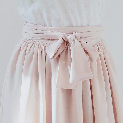 patron de couture jupe longue Pastel Blousette Rose long skirt sewing pattern Pa…