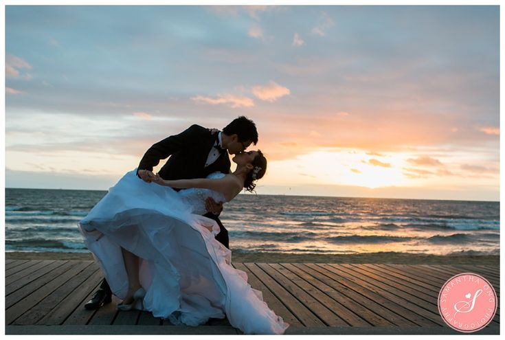 like location with sunset - bridal pose :)