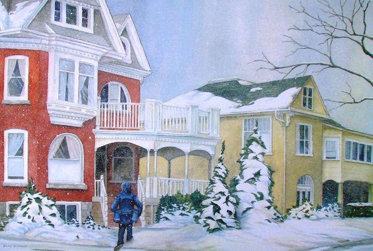 "Original watercolour - ""Snowy Delivery""  DennisKalichuk.com"