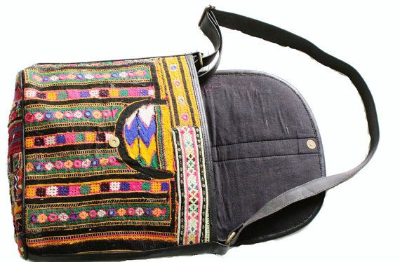 Vintage Banjara Bag With Magnet Button and Flip by coloursofspirit