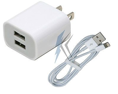 10W Wall Charger 3ft 8 Pin CERTIFIED Lightning Cable for Apple iPhone 5 6 6s 6+s From AllCityImports