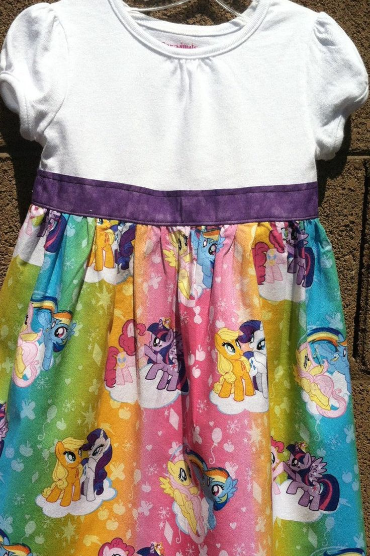 My Little Pony T-Shirt Dress by CreativeCreationsDeb on Etsy