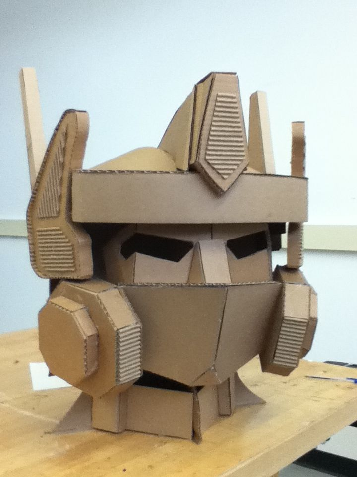 Optimus Prime's head made out of cardboard - Imgur