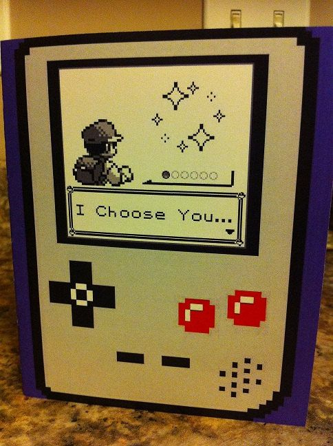 Great card for the geek girl/boy of your dreams. Ah how many hours did I try and catch em all? lol.