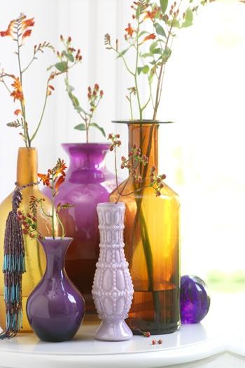 gekleurde vazen / colored vases