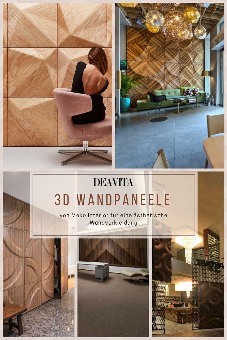 Futuristische Buro Einrichtung Mit Metall 3d Wandpaneelen: House