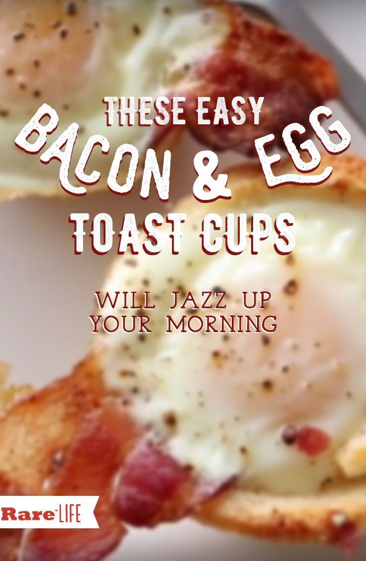 Breakfast made easy! Try out these bacon and egg toast cups