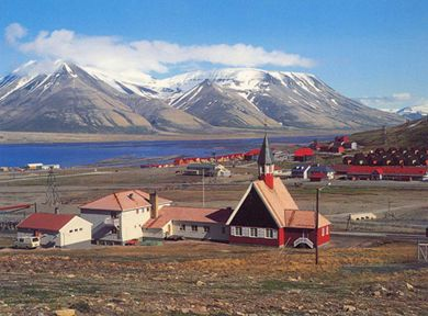 Norway, Svalbard is the northernmost inhabited place in the world. It is even farther than Alaska and Arctic Islands of Canada.