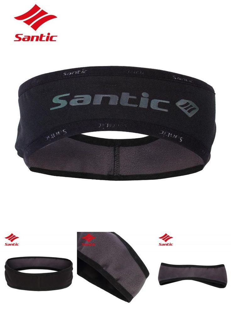 [Visit to Buy] Santic Headband Outdoor Sports Windproof Thermal Fleece Running Cycling Ear Protection Earmuffs Sport Keep Warm Ski Cap Black #Advertisement