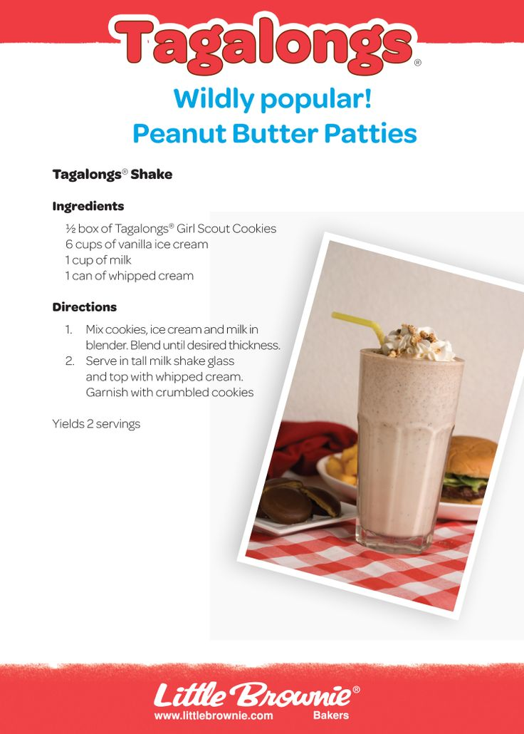 Shake things up with this Tagalong Shake.  #girlscoutcookies #icantwaitto