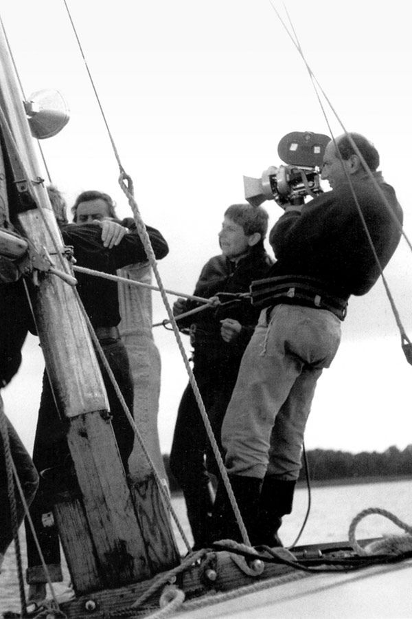#Roman_Polański directing his first feature film Knife in the Water (1962) #rivers_and_seas