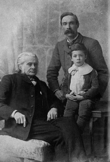 Thomas Henry Huxley, son Leonard Huxley, and grandson Julian Huxley in 1893. The Huxley File. This image is in the public domain in the Unit...