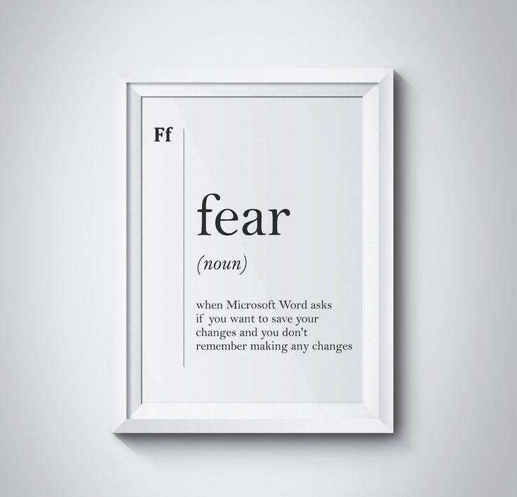 Fear Definition, Fear Print, Modern Print, Student Gift, Minimalism, Dorm Decor, Scandinavian Art, Typography Art, Dictionary Art,#HQDEF060 by HQstudio on Etsy