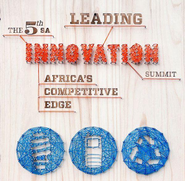 Handmade design, photographed for poster. The 5th SA Innovation Summit by Karl Mynhardt, via Behance