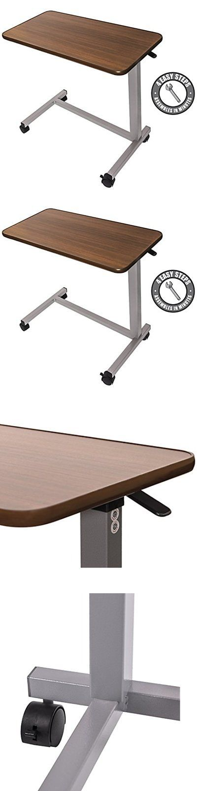 Bed and Chair Tables: Eva Medical Adjustable Overbed Table With Wheels (Hospital And Home Use) -> BUY IT NOW ONLY: $72.13 on eBay!