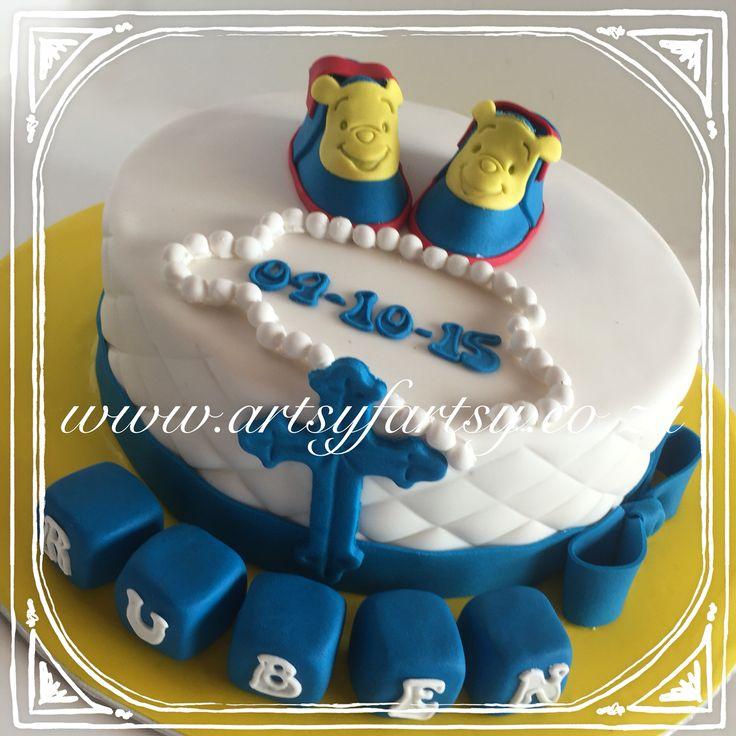 Winnie the Pooh Baptism Cake #winniethepoohbaptismcake