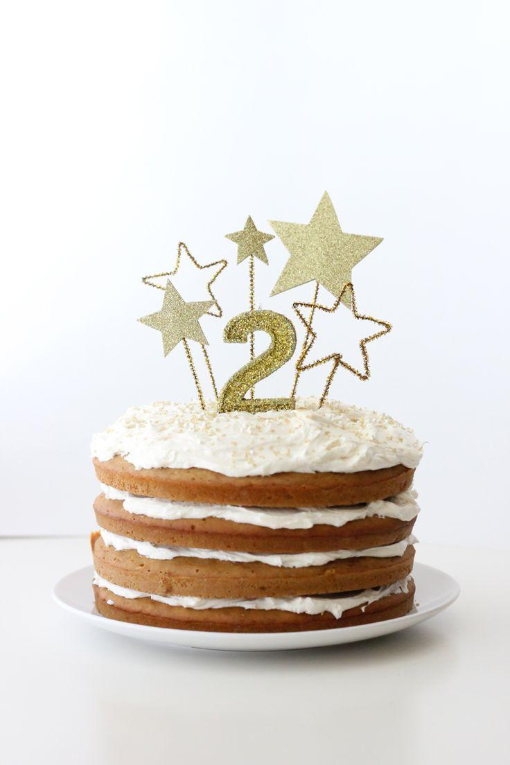 Simpele maar wel hele feestelijke taart.